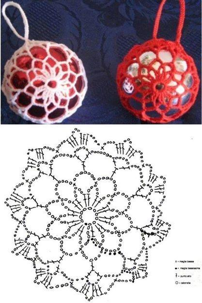 crochet christmas ball ornaments 1