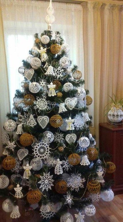 crochet christmas ball ornaments 11