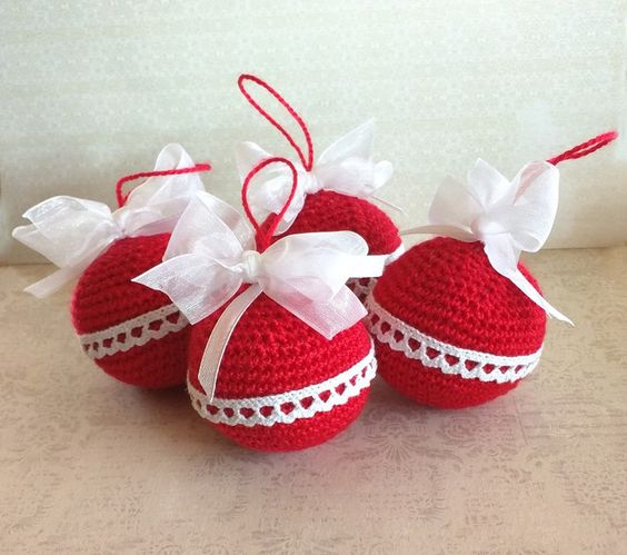 crochet christmas ball ornaments 2