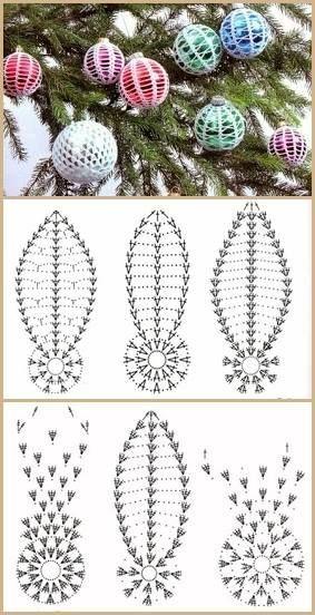crochet christmas ball ornaments 5