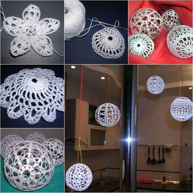 crochet christmas ball ornaments 6