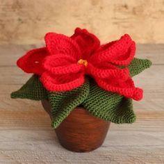 crochet christmas flowers tutorial 1