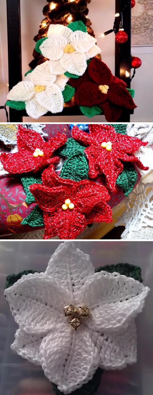 crochet christmas flowers tutorial 11