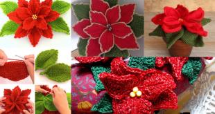 crochet christmas flowers tutorial