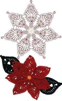 crochet christmas flowers tutorial 8
