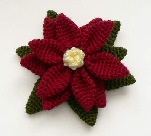 crochet christmas flowers tutorial 9