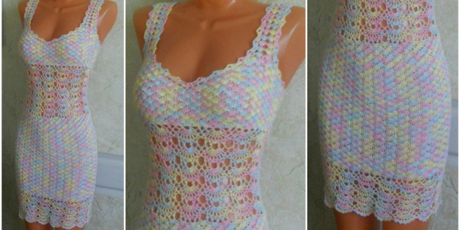crochet colorful dress