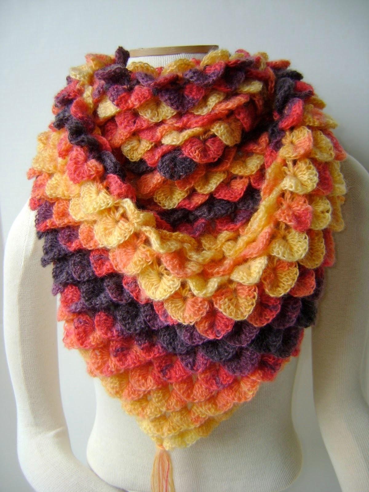 crochet crocodile stitch 5