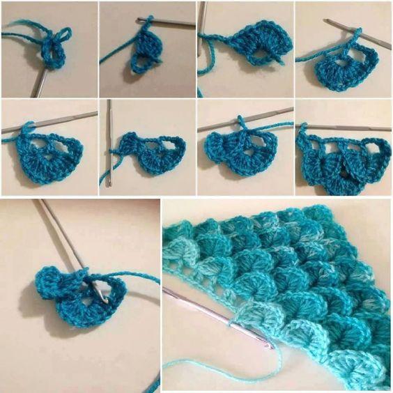 crochet crocodile stitch 8