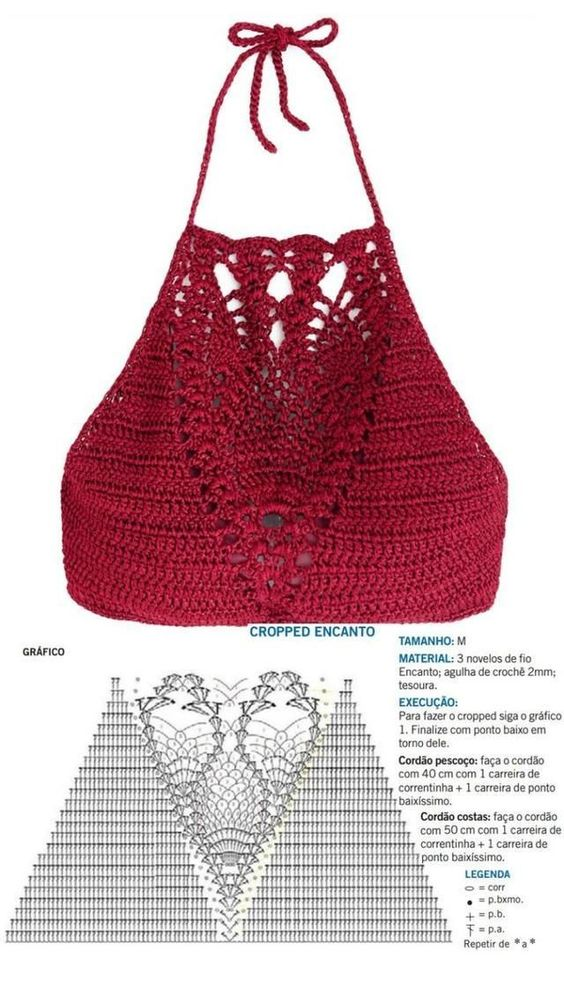 crochet crop top pattern 4