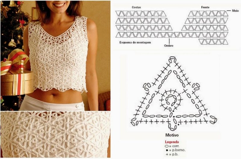 crochet crop top pattern 9