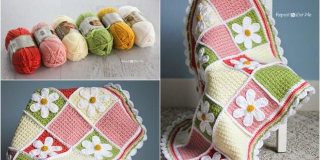 crochet daisy afghan pattern