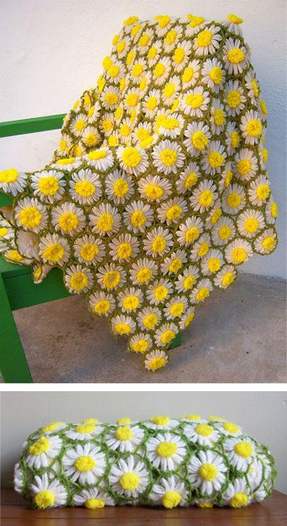 crochet daisy flower blanket 3