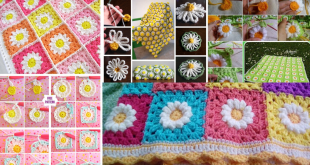 crochet daisy flower blanket