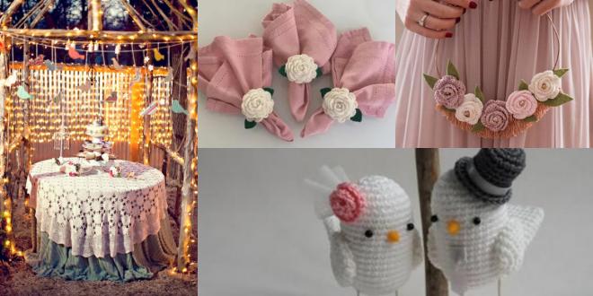 crochet decoration for wedding