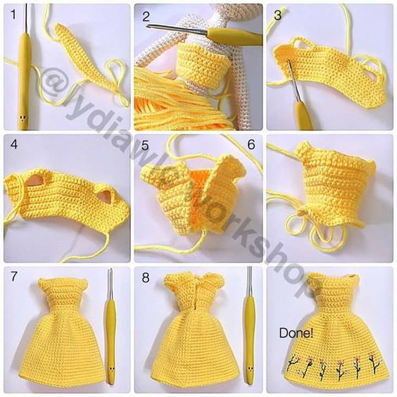 crochet doll dress ideas 2