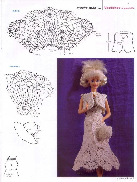 crochet doll dress ideas 3