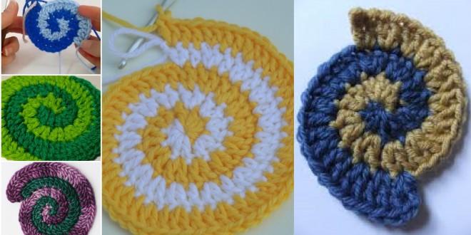 crochet double spiral