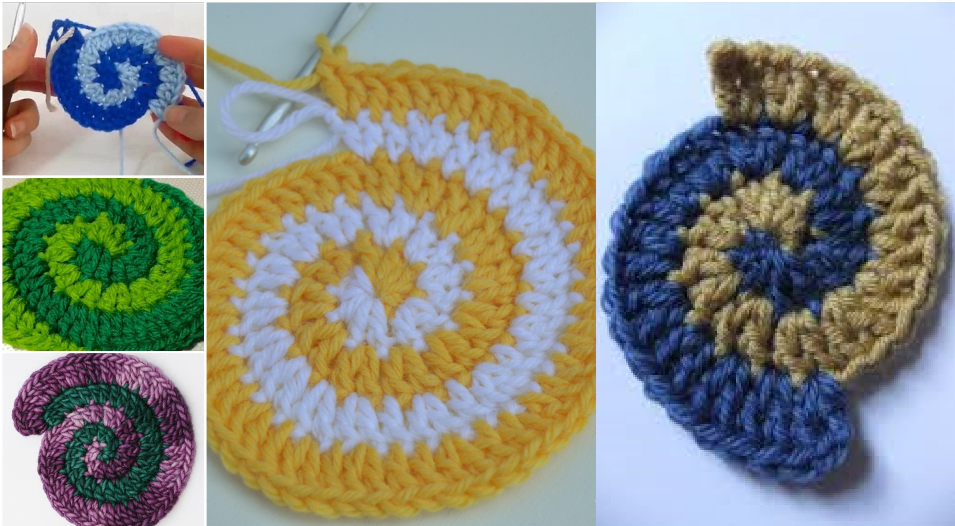 How To Crochet Two Color Double Spiral