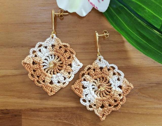 crochet earrings ideas and tutorials 10