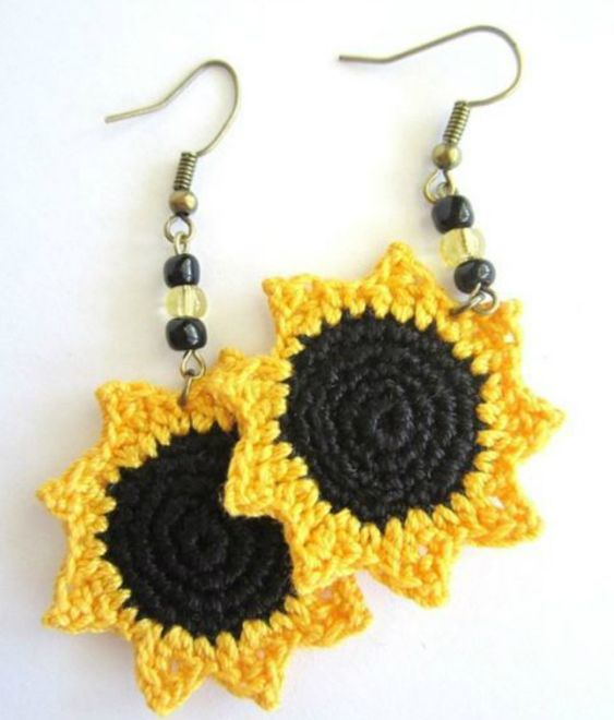 crochet earrings ideas and tutorials 2