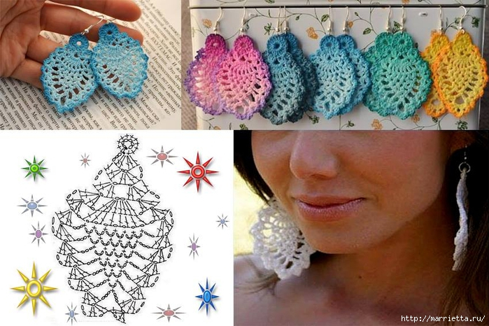 crochet earrings ideas and tutorials 3
