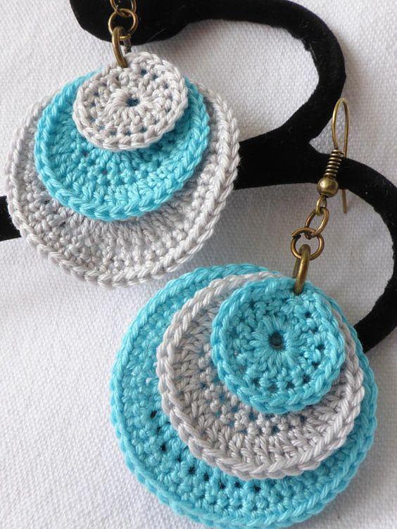 crochet earrings ideas and tutorials 4