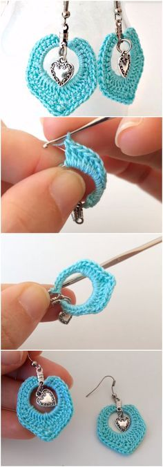 crochet earrings ideas and tutorials 6