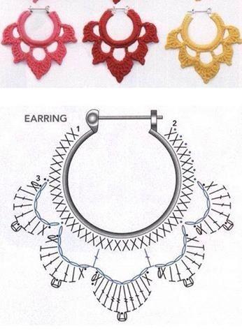 crochet earrings ideas and tutorials 7