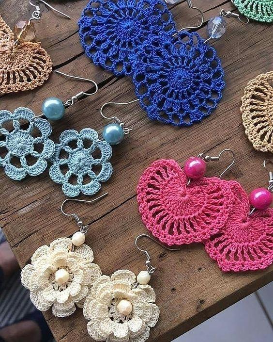 crochet earrings ideas and tutorials 9