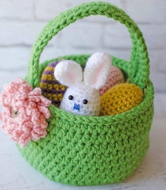 crochet easter basket 2