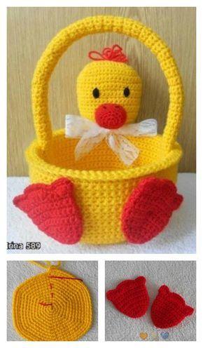 crochet easter basket 3