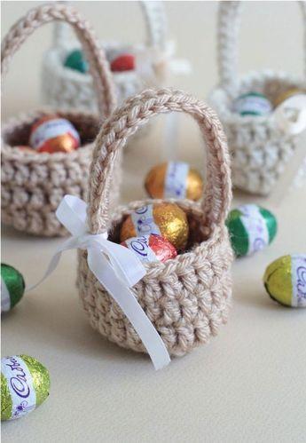 crochet easter basket 5