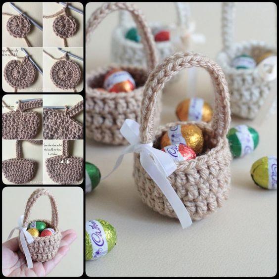 crochet easter basket 6