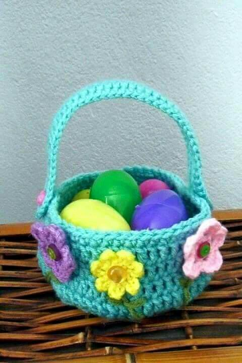 crochet easter basket 7