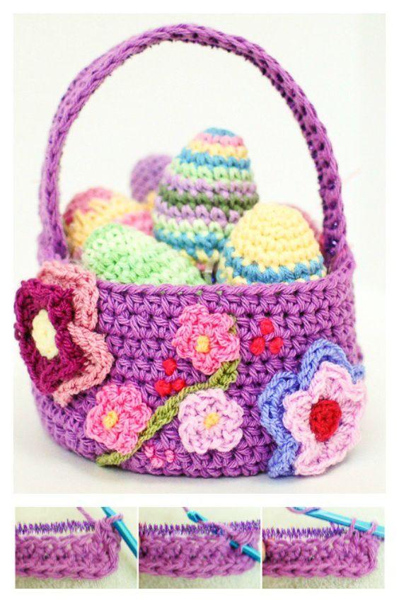 crochet easter basket 8