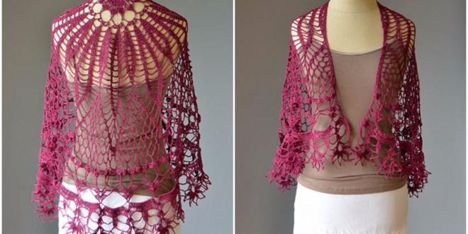 crochet elegant shawl