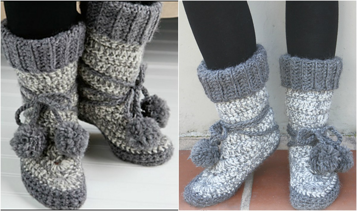 Crochet Eskimo Boots Free Pattern Amp Video Tutorial