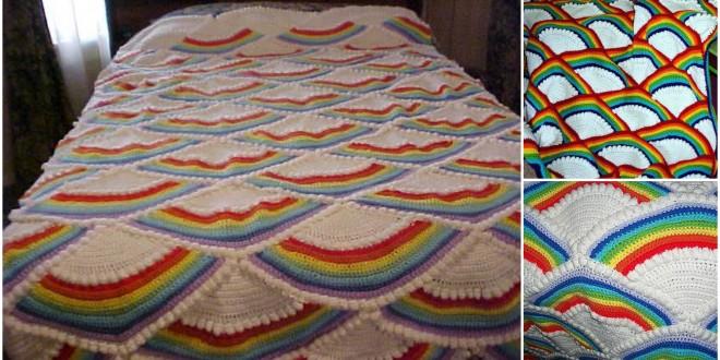 crochet fan afghan