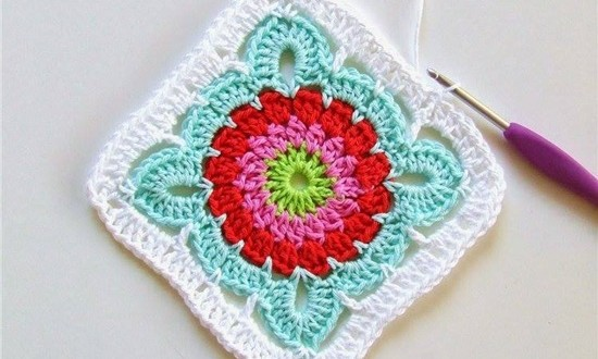 crochet flower blanket8 1