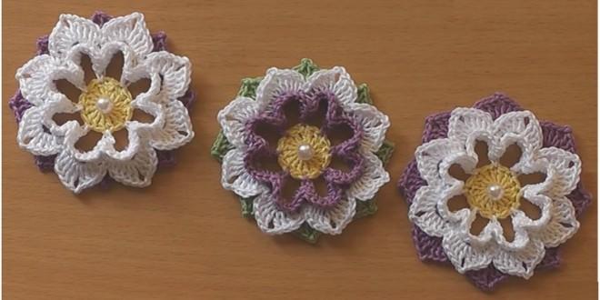crochet flower easy tutorial