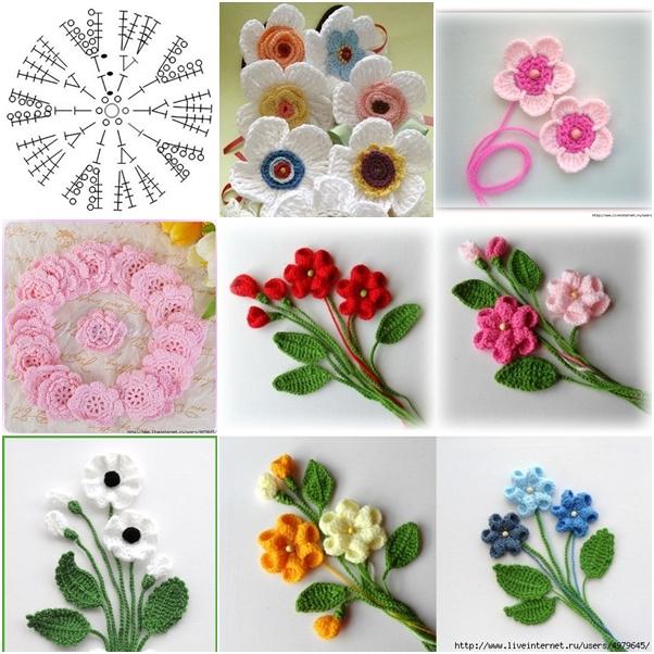 Best Wild Flowers How To Make Easy Crochet Flowers Wild Flowers