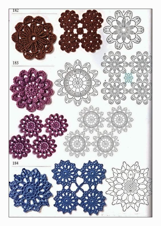 crochet flower scarf 2