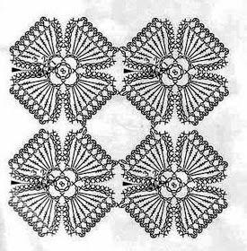 crochet flower scarf 4