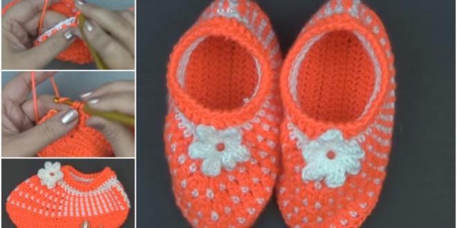 crochet gorgeous strawberry slippers