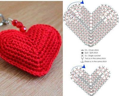 crochet heart tutorial 6