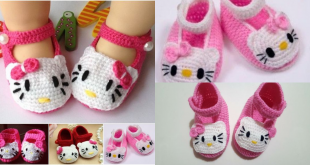 crochet hello kitty shoes for baby