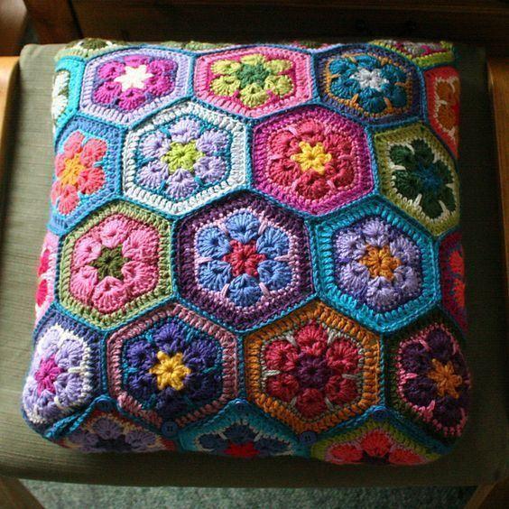crochet hexagons tutorial ideas 2