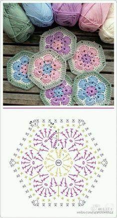 crochet hexagons tutorial ideas 3