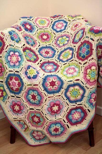 crochet hexagons tutorial ideas 4